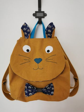 Sac à dos crèche et école maternelle chat
